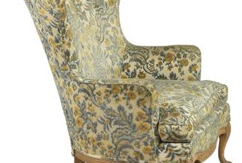 A timeless wingback chair fits any decor.