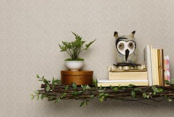 Use twigs as edging on shelves, mirrors and frames.