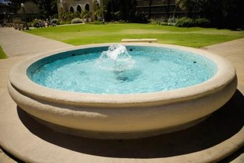 Maintaining a clean fountain heightens its appeal.