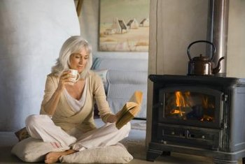 Keep the air humid and enjoy the warmth and comfort of a wood stove.