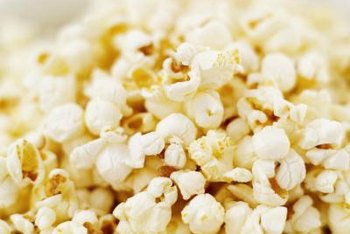Air-popped popcorn makes a healthful and tasty snack without butter.