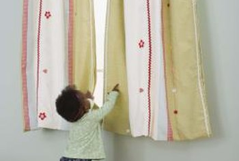 Joining curtain panels together without sewing is an easy solution to decorating problems.