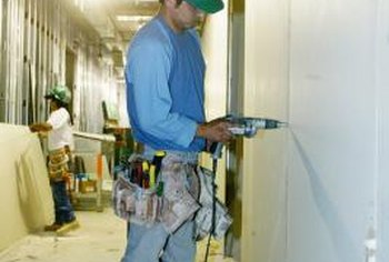 Drywall installs easily with a cordless drill.