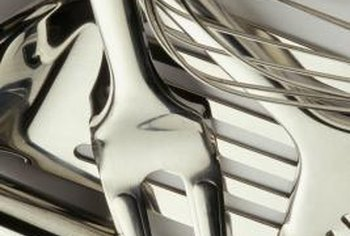 Clean silver utensils naturally to get rid of tarnish.
