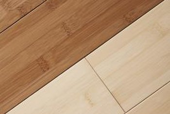 Depending on the finish, fix or hide a dent in bamboo flooring.
