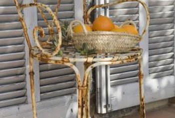 Transform, don't toss, your old, rusted lawn chairs.