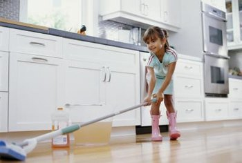 Regular damp mopping doesn't hurt Pergo, but standing water can.