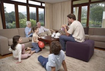 Arrange couches and chairs to maximize comfort for your family activities and hospitality.