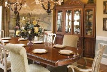 A sizable rug under a table will muffle sounds for a peaceful dining experience.
