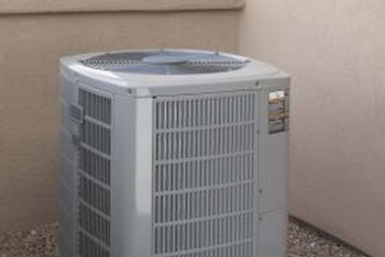 An air conditioner's compressor drives the heat-transfer process that cools rooms.