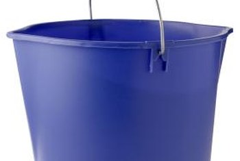 Use separate buckets for cleaner and rinse water.