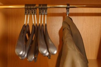 Increase storage space with a closet rod extender.