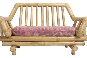 Bring your bamboo furniture indoors during harsh weather.