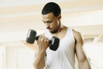 Weight training helps increase lean body mass.
