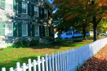 Picket fences were common additions to Colonial properties.