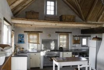 Exposed beams can give your kitchen a colonial look.