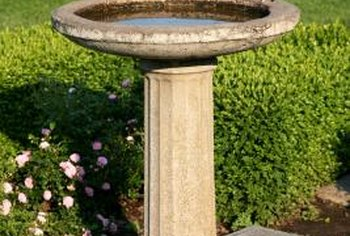 use a birdbath to hide your septic riser - Garden Ideas To Hide Septic Tank