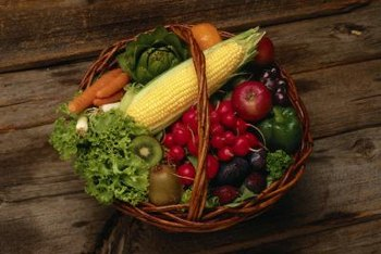 Fresh fruits and veggies are packed with fiber.