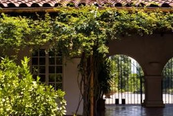The first ranch house design was influenced by Spanish haciendas and Western ranches.