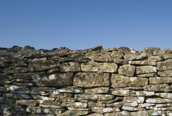 Stone fences are held together without mortar.
