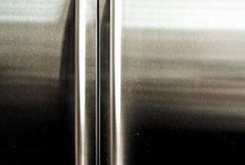 It looks metallic, but magnets won't stick to most stainless steel refrigerators.