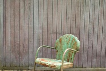 Rust and obvious wear can add charm to the chair you display.