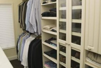 Closet shelves are primarily utilitarian.
