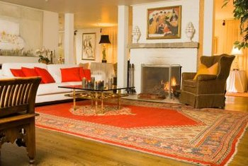 Use yellow, orange and red accents to add color to your home