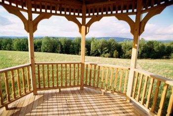 A gazebo provides plenty of shade -- and panoramic views.