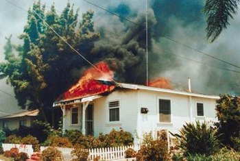 FHA lenders collect fire insurance in advance to ensure payment.