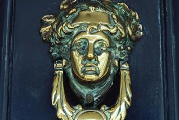 This door knocker turns a basic front door into a work of art.