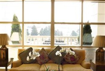 Oversize windows can help to make a room feel wider.