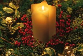 Add a candle, pinecones and balsam fir to create an elegant holiday centerpiece.
