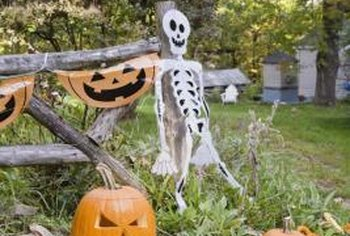 Deck out your yard with festive Halloween decorations.