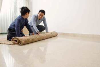 The ease of painting a rug makes it the perfect family project.