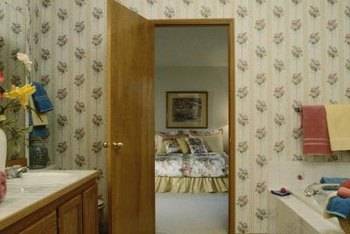 Use door casing to trim both sides of bathroom doors.