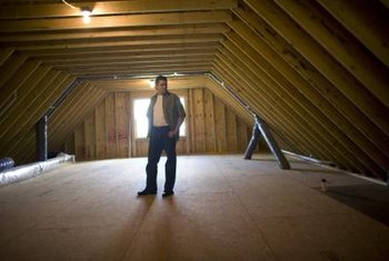 Insulation baffles keep the attic soffit vents open.