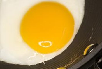 Egg yolks are low in sodium, but they're high in cholesterol.
