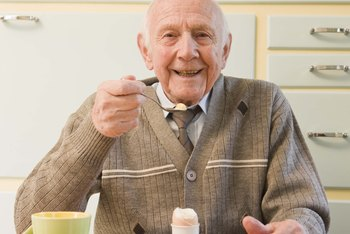 Elderly people need at least 5 ounces of protein daily.