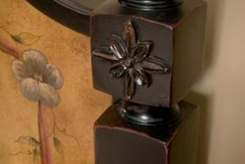 Finials add a decorative touch to bedposts, headboards and foot boards.