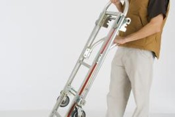 An appliance dolly is essential to moving a refrigerator upstairs.