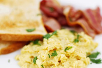 Eggs are high in protein and low in carbohydrates.