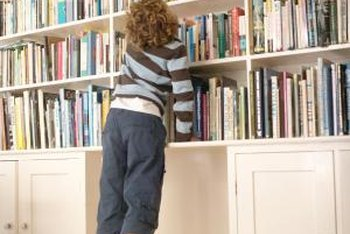 Bookshelves are a handy feature in many homes.