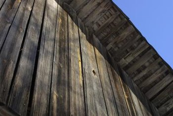 The aged look of weathered wood adds distinction and rustic appeal to walls.