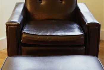 Brown leather furniture.