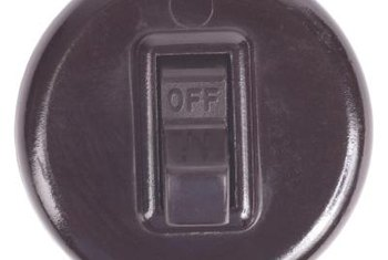 Electric starters can be equipped with an on/off button or switch.