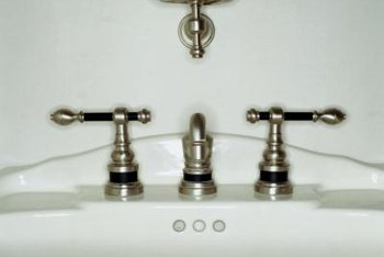 Bathroom sinks can occasionally chip and break, requiring removal.