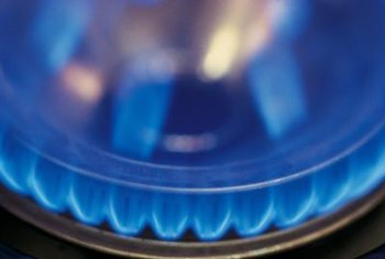 Steady blue flames in your propane heater mean that everything is OK.