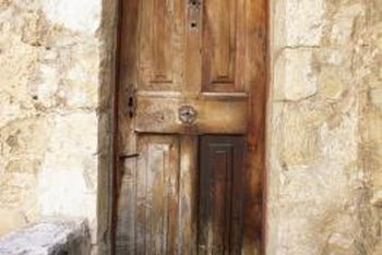 Underneath, that old rustic door might be newer than you think.