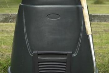 Manufactured compost bins can simplify the composting process.